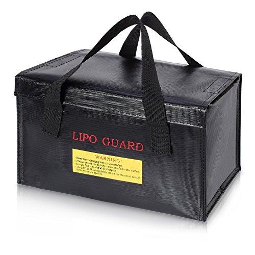 ENGPOW Lipo Battery Bag Fireproof Safe Explosionssicherer Organizer für Lipo Battery Storage und Ladebox, großer Feuer- und wasserdichter, drahtloser Ladegerät Drohne Battery Power Bank Guard Holder - Familie-batterie-ladegerät