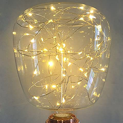 Decorative Light Bulbs,XinRong LED Starry Sky Copper Wire Lightbulbs E27 2W Energy-Saving Retro Old Fashion Edison Bulb Lighting Indoor Home Pendent Decoration,Soft Warm White Glow (G145)