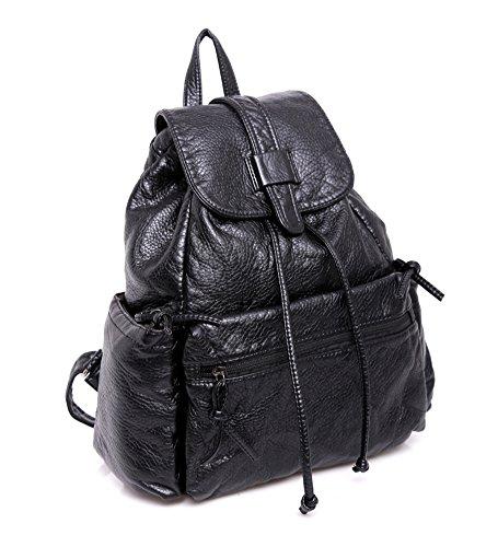 Borse a tracolla per il tempo libero/ borse di vento di donna/Moda viaggio Big bag-Nero Nero