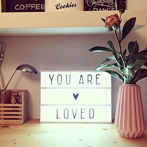 light box boite lumineuse a message stillcool diy cadre lumineux lettre cin ma a4. Black Bedroom Furniture Sets. Home Design Ideas