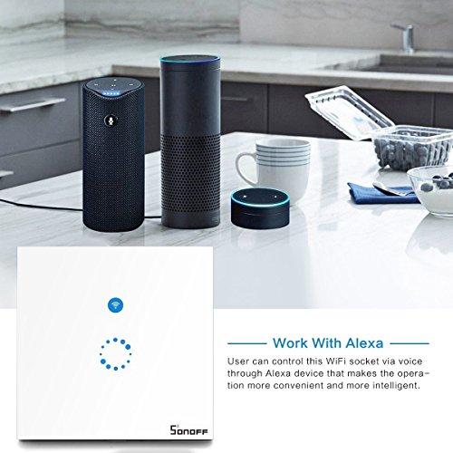 sonoff touch lichtschalter kompatibel mit alexa echo echo dot und google home wei. Black Bedroom Furniture Sets. Home Design Ideas