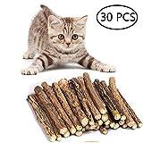 Umiwe Matatabi Katze kausticks, Katzenminze Sticks Katze Reinigung Zähne Bio Spielzeug natürliche Pflanze Kauen Sticks Katze Zähne Reinigung Kauspielzeug (30 Stück)