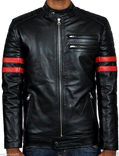 Iftekhar Men's Pure leather Jacket - Black - (Iftekhar03 - M)