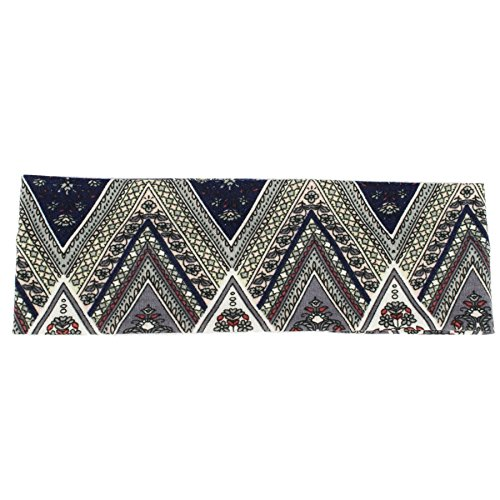 Unisex Twisted Knot Zig Zag Headband - Navy Blue-Grey (Zag Zig Blue Schal)