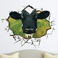 YUJIN Child Decorative Cow Decorative Painting Self-Adhesive Wallpaper Sticker