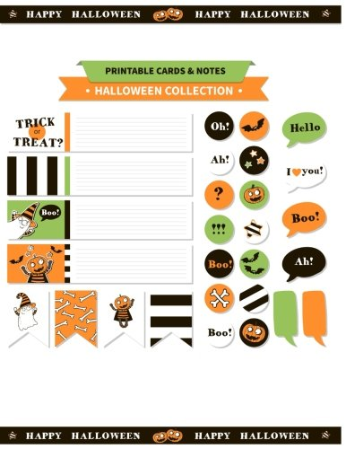 (Printable cards and notes : Halloween Collection Printable and: Printable notes & Bookmarks)