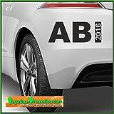 Abi mit Jahreszahl im 2018 Auto Autoaufkleber ca. 15x05cm Scheibe Lack Abi2018 Abitur Heckscheibenaufkleber Fun