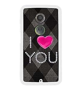 Fuson Designer Back Case Cover for Motorola Moto X2 :: Motorola Moto X (2nd Gen) (canvace diamond romance romantic ishq woolen)