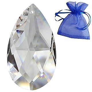 Kristall Wachtel Länge 76mm Regenbogenkristall Feng Shui Fensterschmuck spirituelle Lichtblitze 30% Bleikristall Kristall-Behang Kristallglas