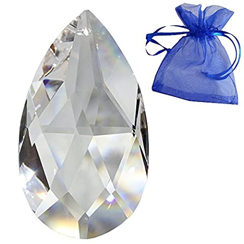 Kristall Wachtel 76mm 1 Stück - Regenbogenkristall - Feng Shui - Esoterik - Fensterschmuck - spirituelle Lichtblitze - Kristallbehang - Kristallglas