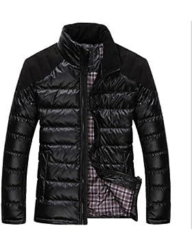 MHGAO Nuevo para la camisa de otoño / invierno de los hombres de Down Jacket , black , m