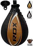 RDX Cuir Boxe Poire De Vitesse Frappe Entrainement MMA Speed Bag Muay Thai Punching Ball et Pivotant Rotule Plafond
