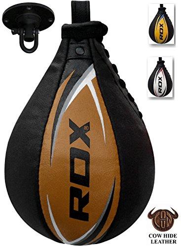 Rdx palla velocità cuoio palla tesa per bag veloce boxe allenamento pugilato gancio soffitto pugilato
