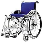 Silla de ruedas activo ajustables, color gris metalizado