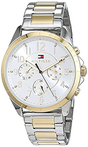 Tommy Hilfiger Womens Quartz Watch, multi dial Display and Stainless Steel Strap 1781607