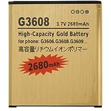Donkeyphone - BATERIA INTERNA GOLD PARA SAMSUNG GALAXY CORE PRIME G360 Y J3 J300 DE RECAMBIO / REPUESTO DE LITIO CON ALTA CAPACIDAD 2680 MAH