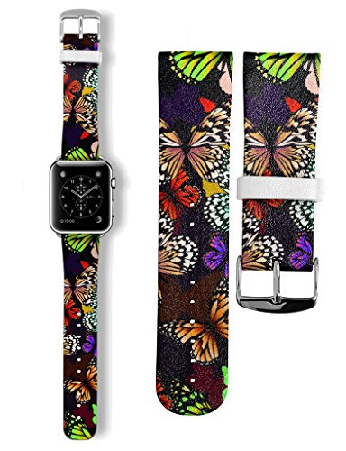 new-geniune-leather-strap-classic-buckle-watch-band-for-apple-watch-42mm-black-green-butterfly-insec