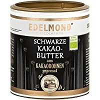 Edelmond Schwarze Kakaobutter Bio, zum Kochen, Backen und Schokolade machen. Beste dünn-flüssige Kuvertüre voll pflanzlich, ohne Zucker/Low Carb (250 g)