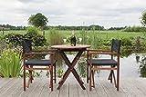 Gartenmöbel Set 'Antro', aus exklusivem Mahagoni Hartholz, geölt (2 XL Regiestühle und Gartentisch 70 x 70 cm), klappbar