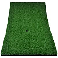 Eionfer Golf-Übungsmatte, 30 x 60 cm, zum Üben des Abschlags, mit Gummi-Tee