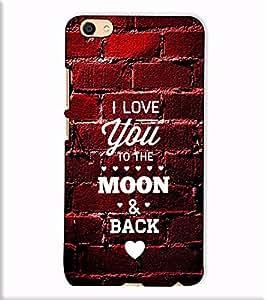 Fuson Designer Back Case Cover for Vivo X7 Plus (I Love You Theme)