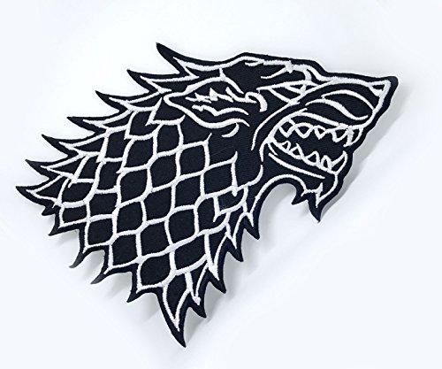 Parche bordado coser planchar casa Stark Direwolf