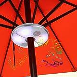 Kingstar Patio LED Umbrella Luz altavoz Bluetooth, Batería para exteriores sombrilla altavoces inalámbricos RGB Cambia de Color paraguas poste luces lámpara de camping con banco de la energía