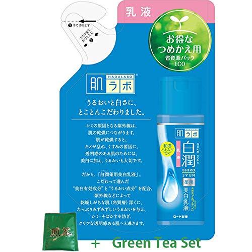 Rohto New Hadalabo Shirojun White Milky Lotion - 140ml - Refill (Green Tea Set)
