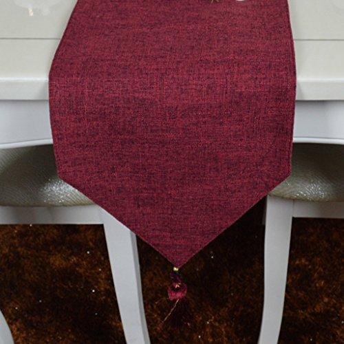 Chemin De Table En Lin Coton Chemin De Table Classique Vintage Vintage (Couleur : Vin rouge, taille : 30 * 140cm)