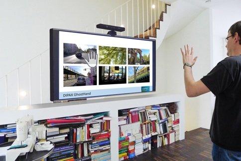 DIPAX GhostHand Pro (Softwarepaket für MS Kinect XBOX ONE; PC berührungslos via Handbewegungen und Gesten steuern; Kinect Software für PC Bedienung; Mauszeiger mit Gesten bewegen; Mausklicks via Gesten auslösen; Tastencodes auslösen; Powerpoint mit Wischgesten steuern)