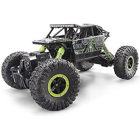 MiGoo 2.4Ghz RC Rock Crawler 4WD Monster Truck Off-Road Veicolo Giocattolo Fare Regali (Verde)