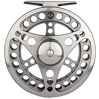 Goture Fly Fishing Reel Waterproof 2+1BB 5/6 7/8 9/10 Aluminum Alloy Body CNC Machine Cut Fishing Reel Large Arbor Die Casting Aluminum Fly Reel With Bag from Goture