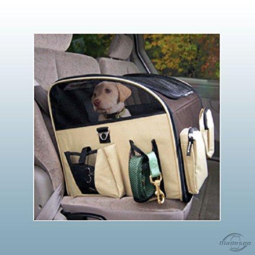 Faltbare Hunde Transportbox Hundetasche Auto Hundebox Box Größe M Beige-Braun