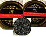 2 x 50 gr. Caviar Baerii classique (esturgeon sibérien). Livraison gratuite, 1-2 jours