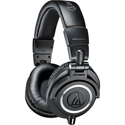 אוזניות ! Audio-Technica ATH-M50X Studio Monitor Professional Headphones - Black