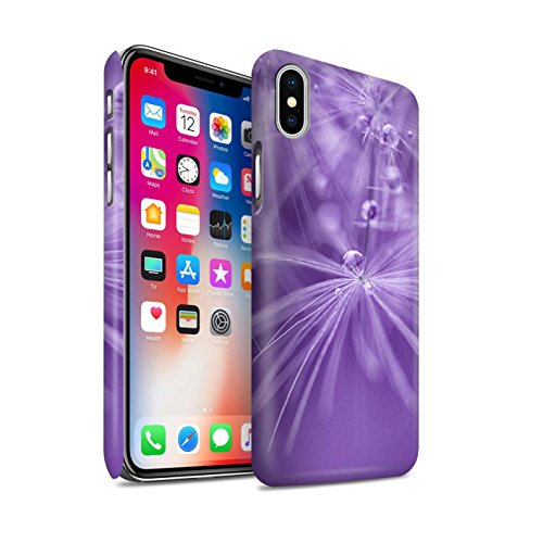 STUFF4 Matte Snap-On Hülle / Case für Apple iPhone X/10 / Pack (6 Pk) / Blumen Fee Tropfen Kollektion Lila Blume