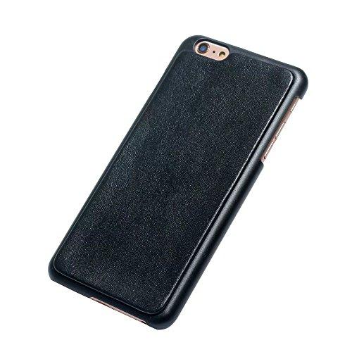 EKINHUI Case Cover Echtes Leder Zipper Geldbörse Tasche mit abnehmbarem Rücken Abdeckung Lanyard und Card Slots für iPhone 6 Plus / 6s Plus ( Color : Brown ) Black