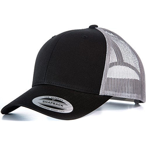 bfd920bf175 Flexfit by Yupoong Mens Classic Retro Polycotton Trucker Snapback Cap