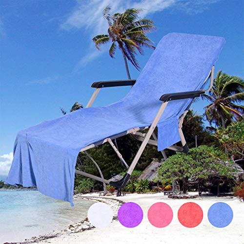 Mitlfuny -> Haus & Garten -> Küche,Stuhl Strandtuch Lounge Chair Strandtuchabdeckung Mikrofaser Pool Lounge-Stuhlabdeckung mit Taschen, schnell trocknend ()