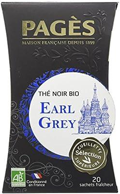 Pagès Thé Noir Earl Grey Bio 20 sachets - Lot de 2