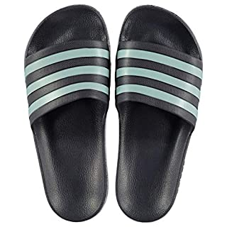 adidas Mens Duramo Sliders Pool Shoes TraceBlue/Grey UK 12 (47.3)