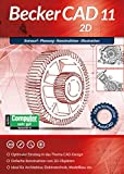 BeckerCAD 11 2D Architektur, Maschinenbau, Elektrotechnik, Modellbau CAD Programm, Software für Windows 10 / 8.1 / 8 / 7 / XP