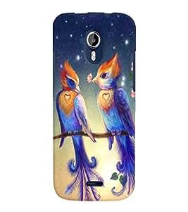 Fuson Love Couple Birds Back Case Cover for MICROMAX A117 CANVAS MAGNUS - D3924