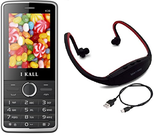 I KALL K39 Black Dual Sim mobile with neckband offer