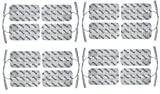 Electrodos medianos con conexión clavija - 16 Parches TENS EMS 10x5cm - Para electroestimuladores conexión banana 2mm - Almohadillas calidad axion