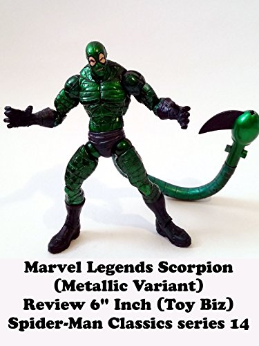 review-marvel-legends-scorpion-metallic-variant-review-6-inch-toy-biz-spider-man-classics-series-14