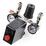 Aleto Kompressorschalter Druckregler mit Druckschalter Kompressor Druckwächter