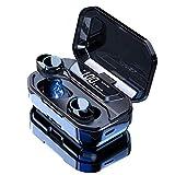 HAMTOD G02 (Pro) Auriculares Bluetooth 5.0 IPX6 Impermeable 6D Sonido Control Tactil TWS Deportivos Audífonos con batería de 3300 mAh,Compatible con iOS/Android (66 Pies)20 Metros Alcance de Bluetooth