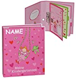 Unbekannt Ringbuch / Sammelordner  Meine Kindergartenzeit  incl. Namen - Album - Kindergarten / Dokumente A4 - Prinzessin Freunde - Ordner als Fotobuch / Photoalbum /..