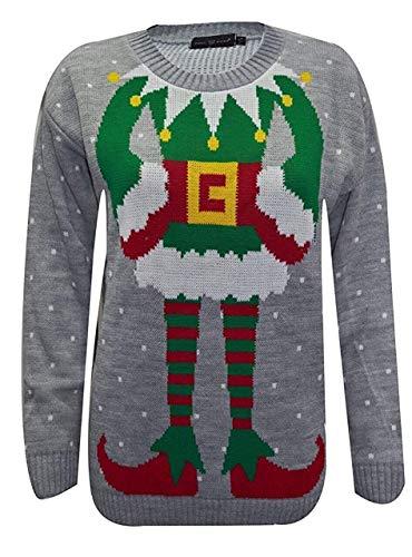 f9a3bf0a0933 Classy Fashion Ladies Elf Joker Jumper Mujer Joker de Punto Jersey navideño  (XXL